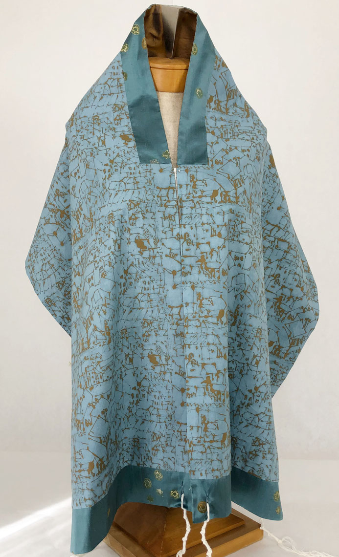 Burnished Tallit Reverse Side
